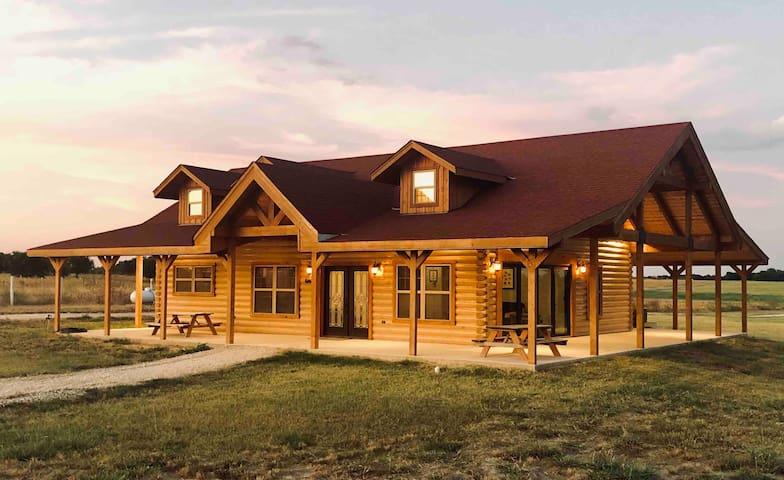 Luxury Log Home on a Horse Farm