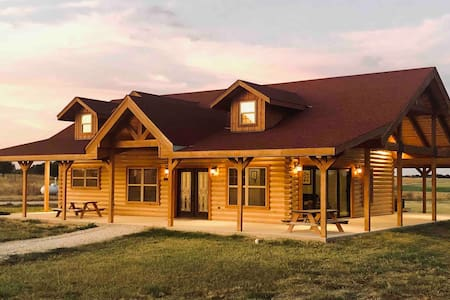 Luxury Log Home on a Horse Farm