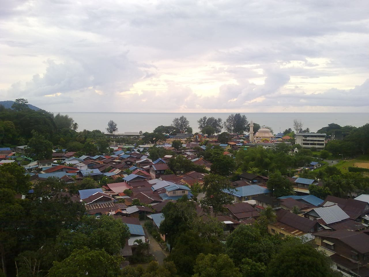 Seaview from window