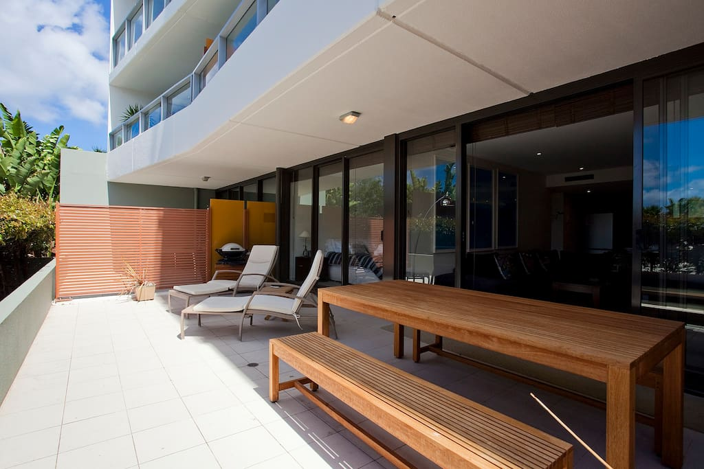 Large deck, plenty of room for relaxing and entertaining