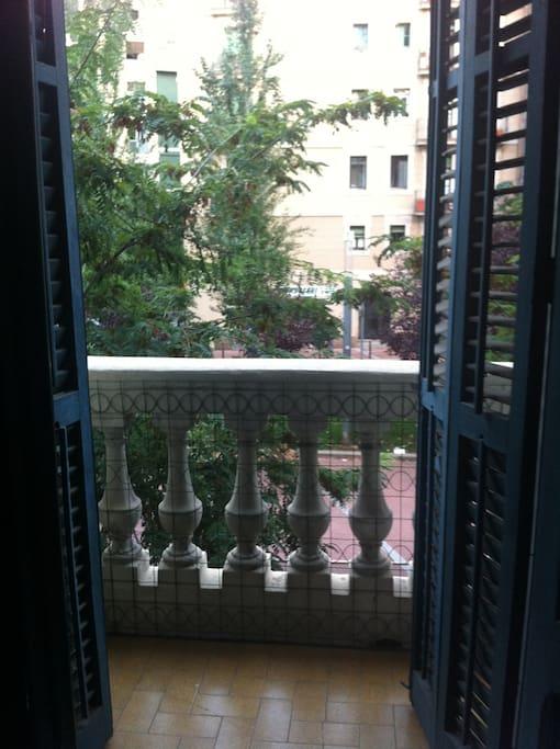balcón habitación  al exterior avd. peatonal