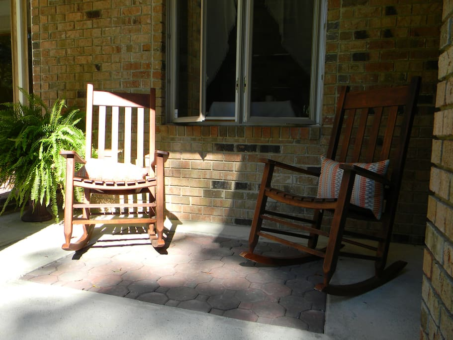 Relax on our Rockers on the front porch.