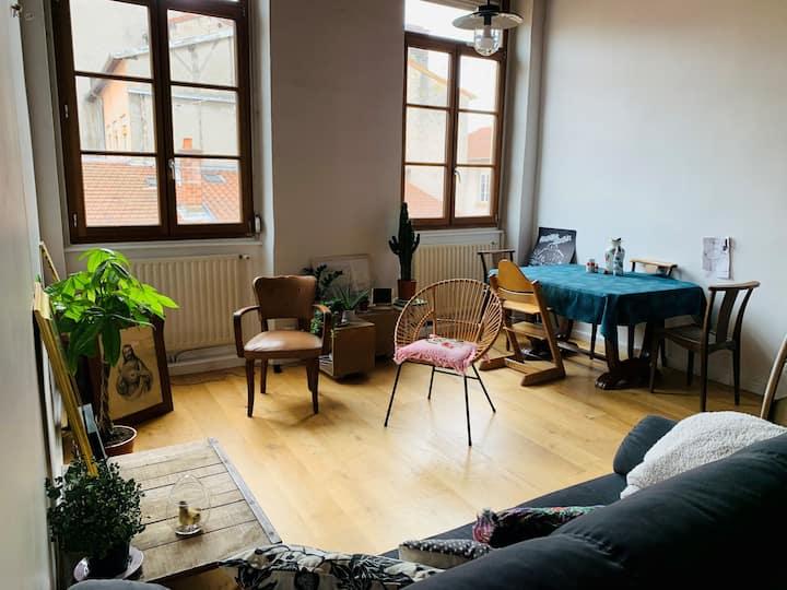 Chambre dans appartement canut Croix-Rousse