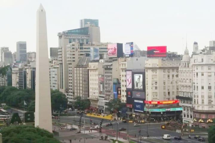 Vista mágica del corazón de Buenos Aires