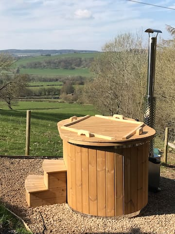 Luxury glamping pod with optional hot tub (extra)