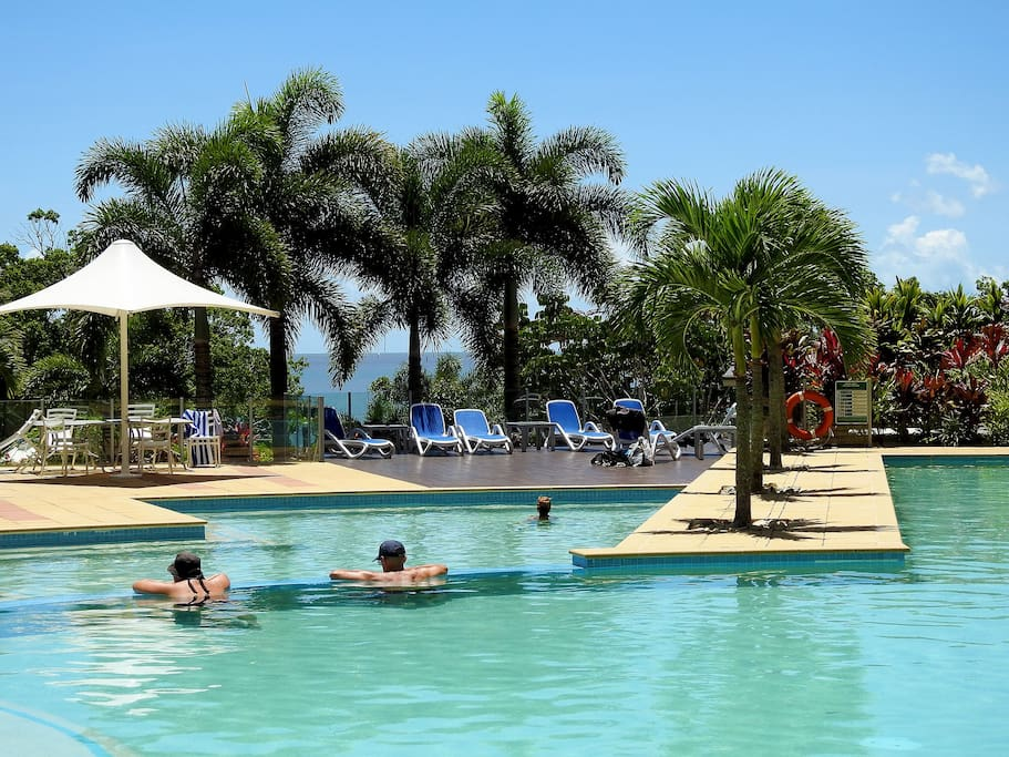 Lagoon pool overlooks the Cairns Esplanade