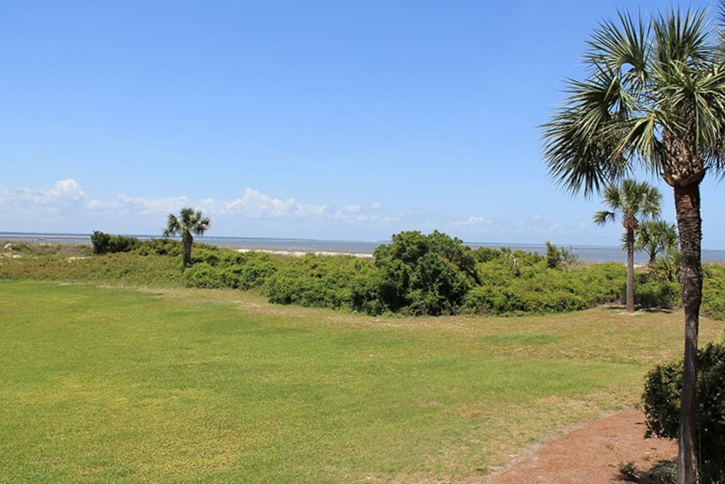 Enjoy Spectacular Views of the Savannah River Entrance and Atlantic Ocean from your Private Balcony