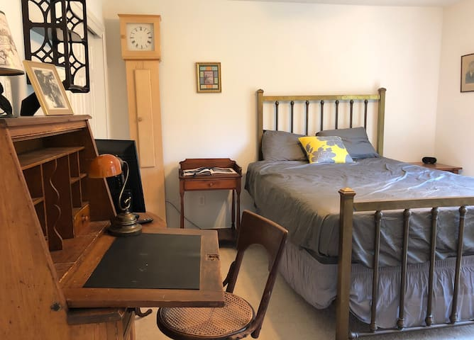 Private suite furnished with antiques