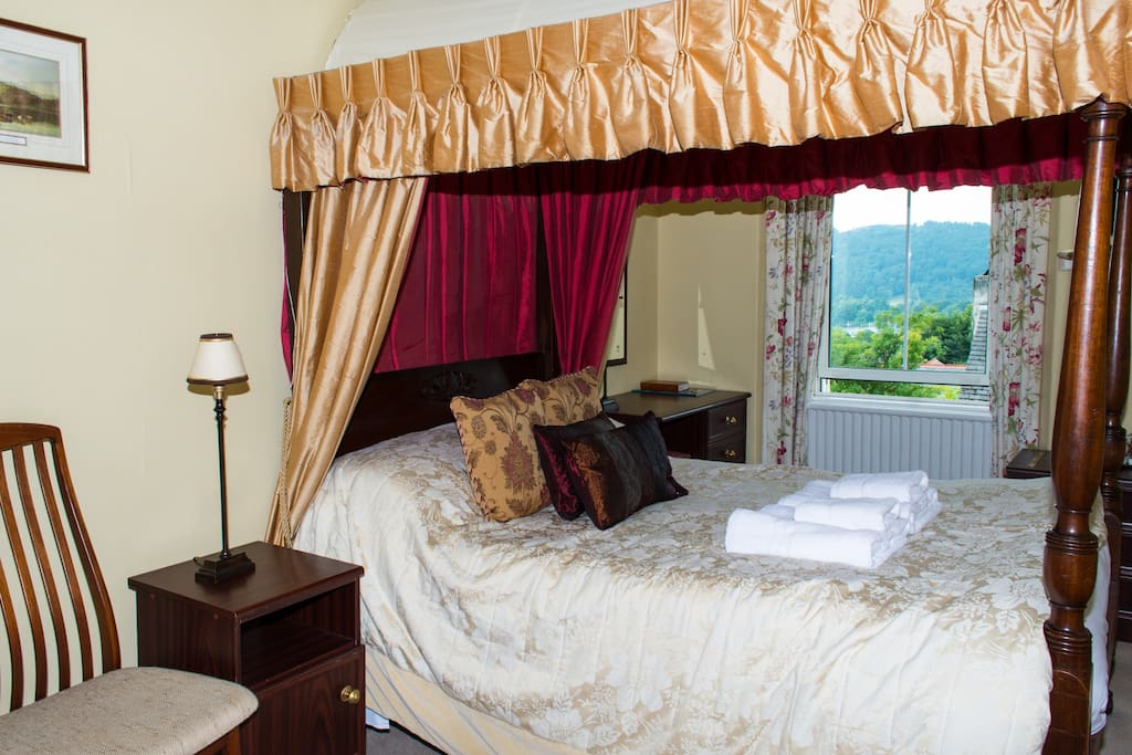 Take a look out of your window in The Coniston room and you will see views of Lake Windermere and the fells.