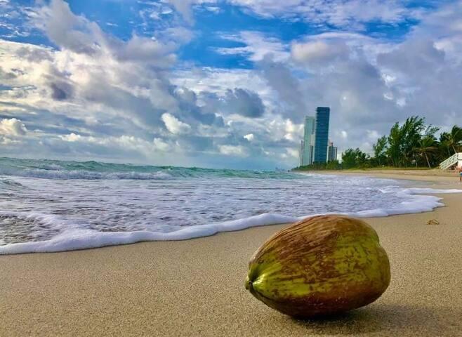 Miami direct access to the beach