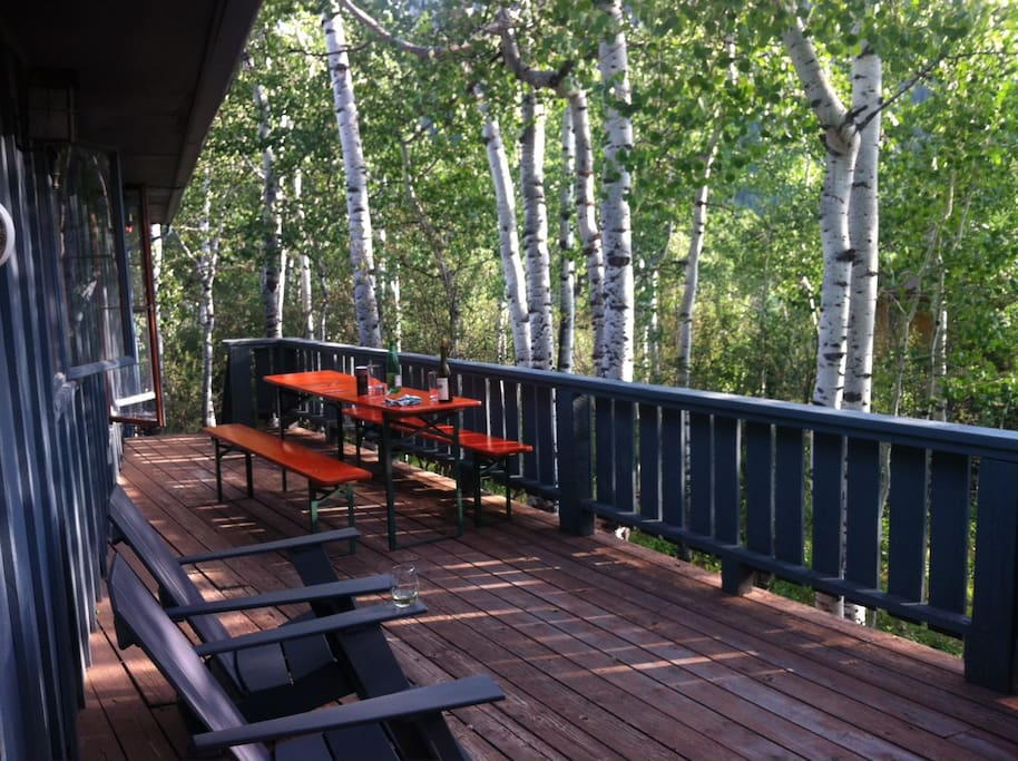 Have a dinner party beneath our Aspen grove.