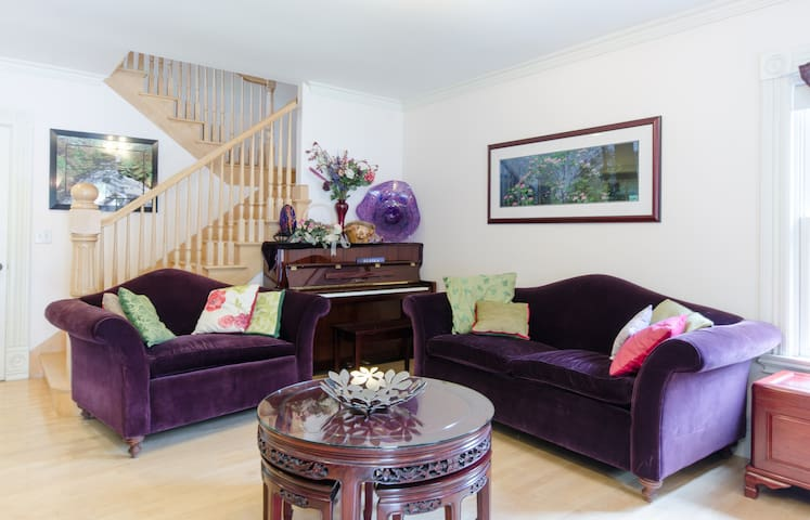 Living room couches are great for guests to relax and lounge