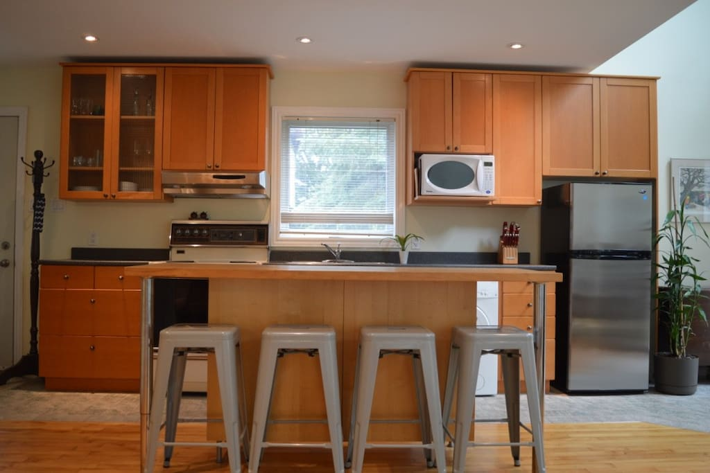 Fully equipped kitchen with lots of counter space.