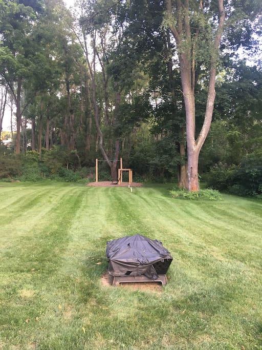 Backyard/fire pit