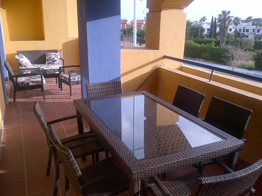 Furnished terrace with lovely views