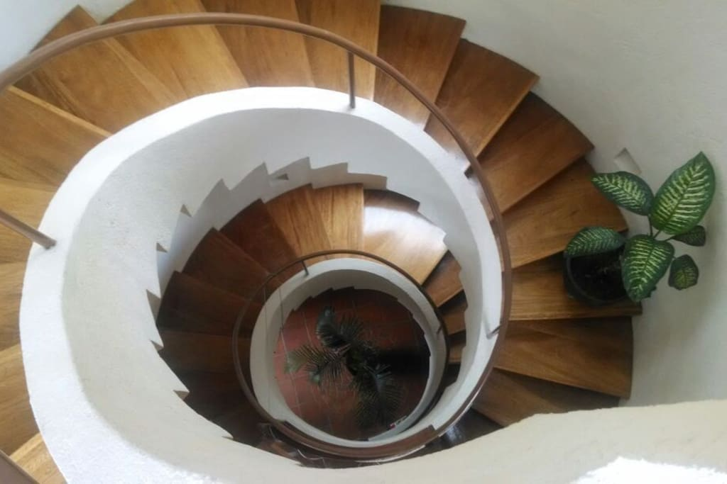 ANOTHER VIEW OF THE SPIRAL STAIRCASE