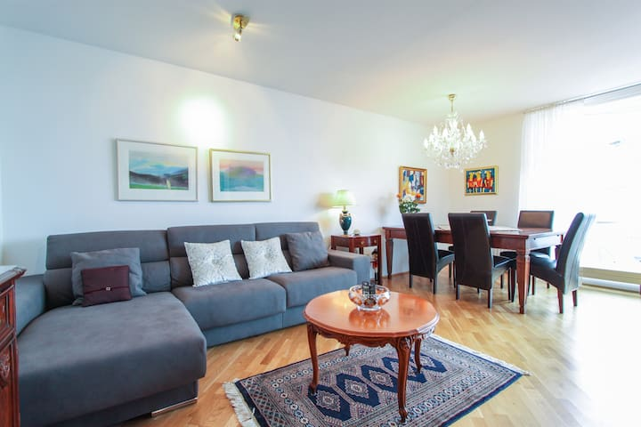 *Bright Apartment in Reykjavik with Ocean View*