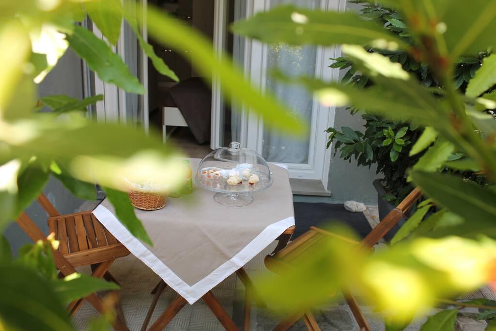 patio per la prima colazione