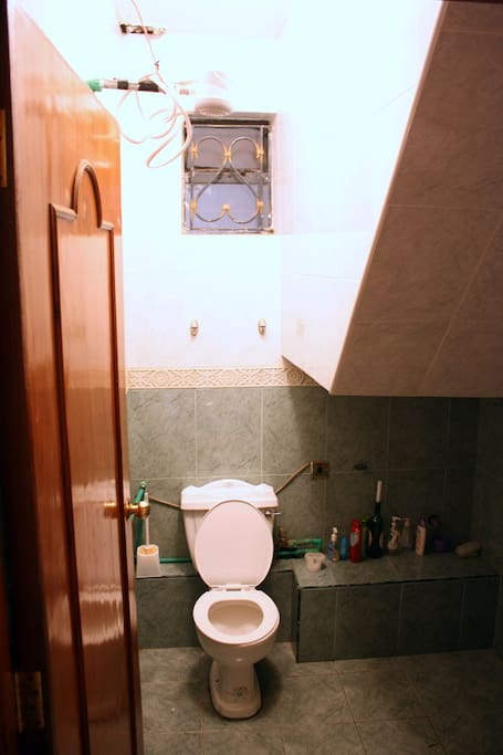 Red room toilet + instant hot water shower
