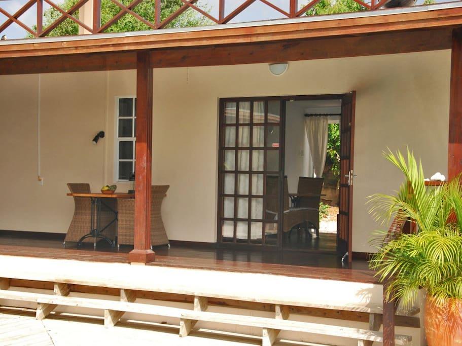 Private porch apartment 3