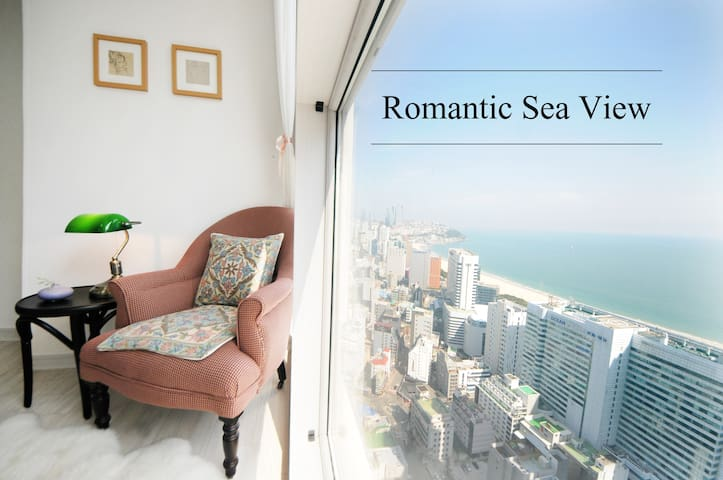 Romantic Sea View, beach 5 minute , Cozy house ^_^ - Haeundae-gu - Apartemen