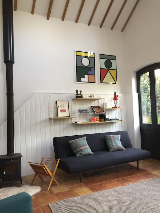 Lounge and woodburner