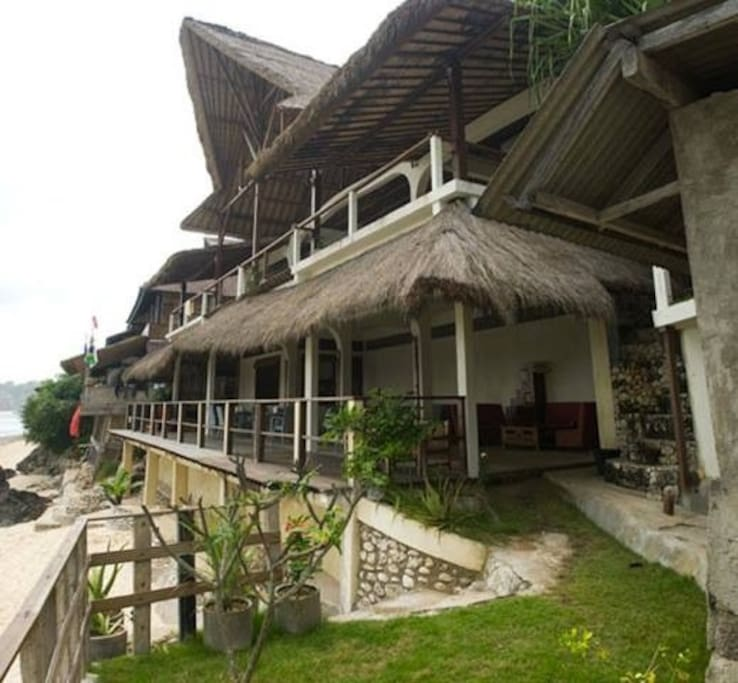 This the House, the Bottom level is Mama Tom Tom's Warung, where you can eat, drink and hangout.