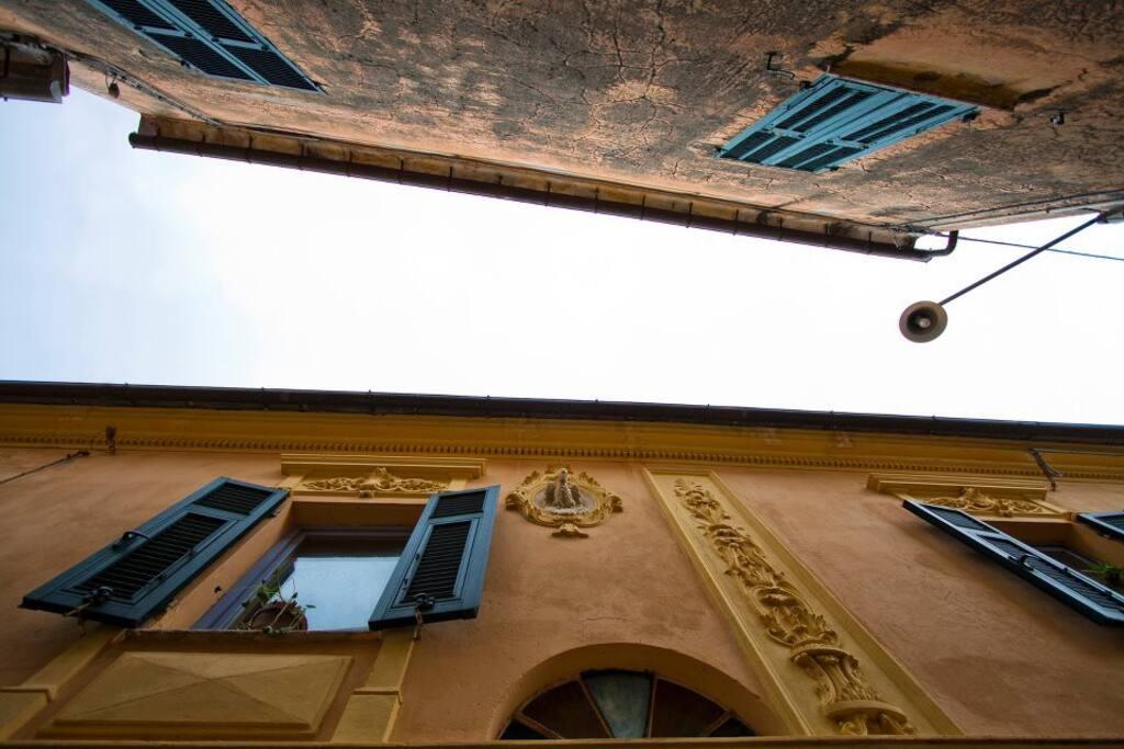 facciata di parte del frantoio