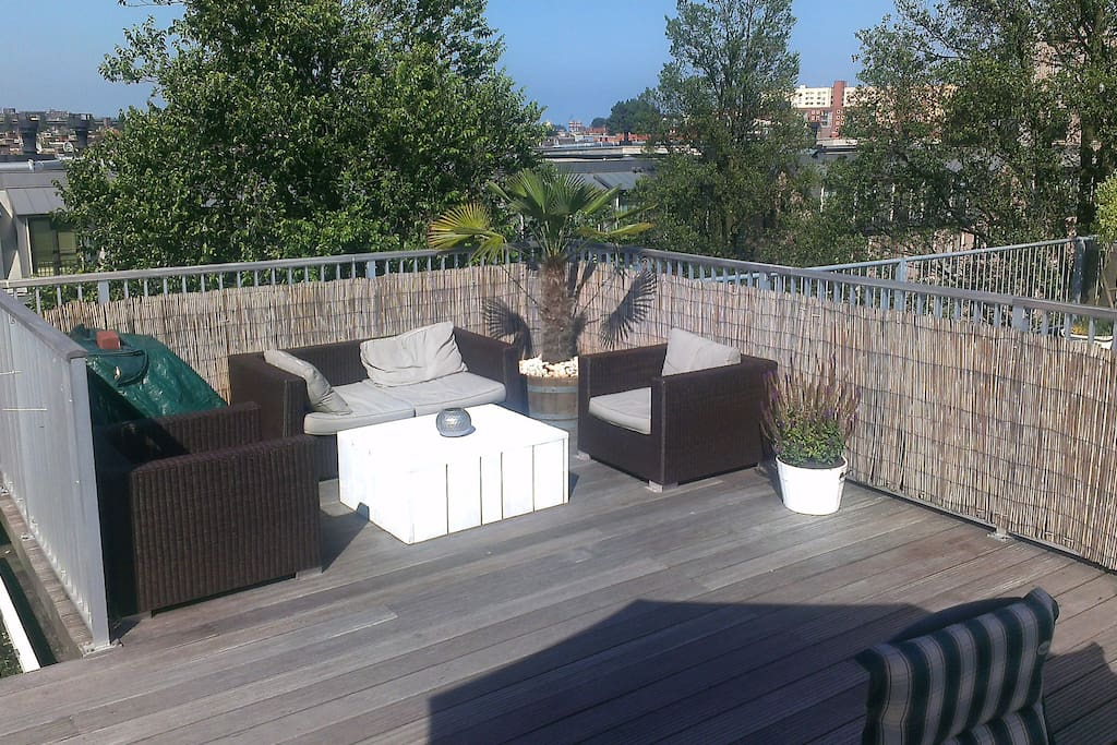 A private rooftop terrace