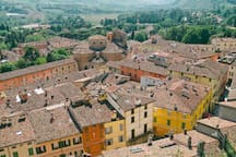 The lovely and ancient town of Brisighella, about 4km from the vineyard.
