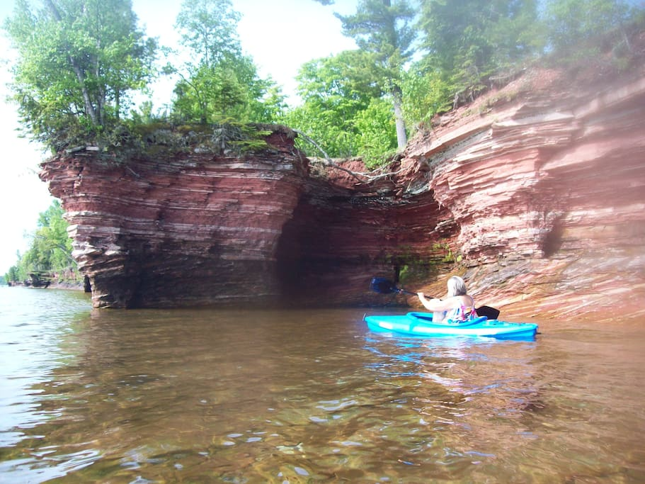 Kayaking by the redrocks