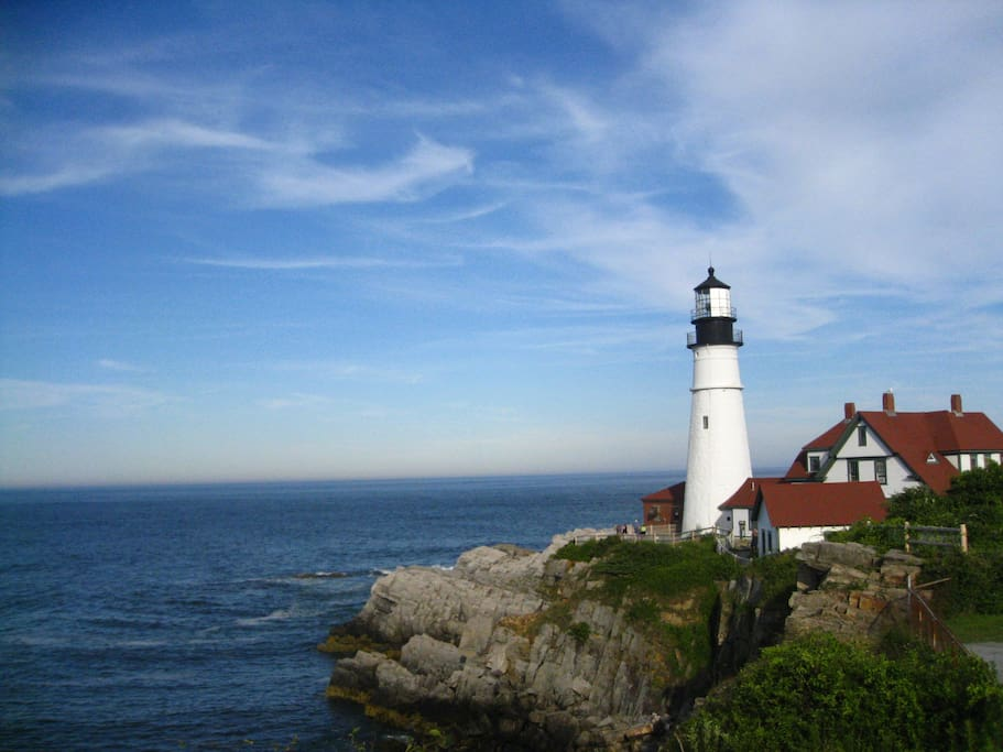 Coastal home by portland headlight houses for rent in for What state has the most lighthouses