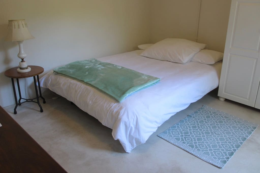 Double bed for maximum comfort. Fresh sheets every Friday.