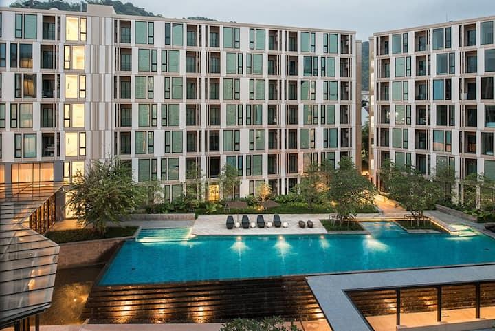 7楼精致家居1卧室+高档小区双泳池健身房+24小时安保长租首选