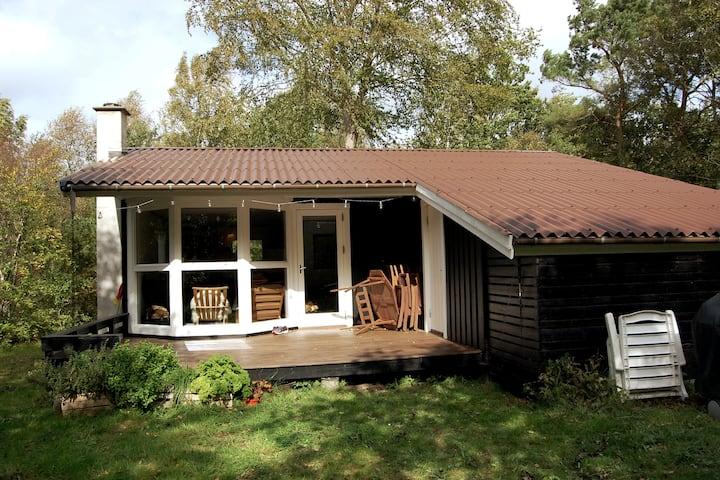Hyggeligt sommerhus i fred og ro ved hav og fjord