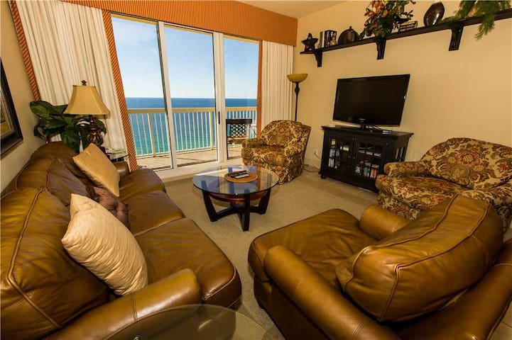Ravishing Ocean Front View, Updated Kitchen Stainless Steel Appliances, Leather Couches - Calypso Resort & Towers 2206E Panama City Beach