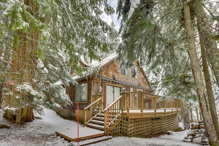 Dog-friendly cabin within walking distance to Mt. Hood Ski Bowl West!