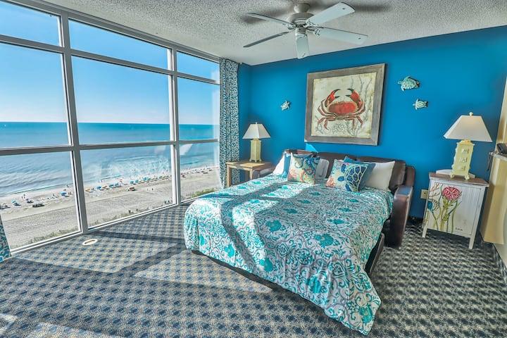 Luxury True OceanFront 2BR/WaterPark@Dunes Village