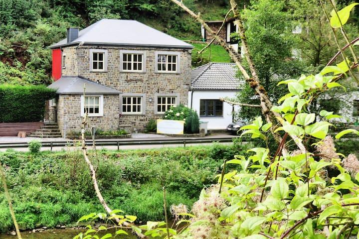 Belle maison avec une localisation unique sur l'Ourthe, avec jardin et terrasse