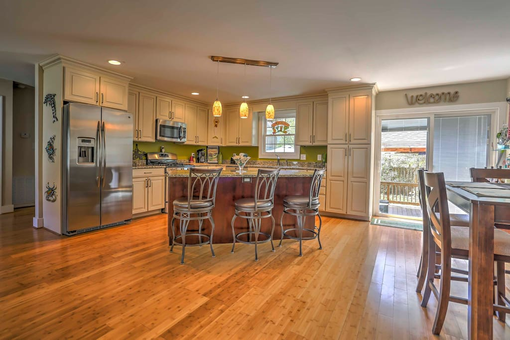 Whip up delicious meals and snacks in the impressive, fully equipped kitchen.
