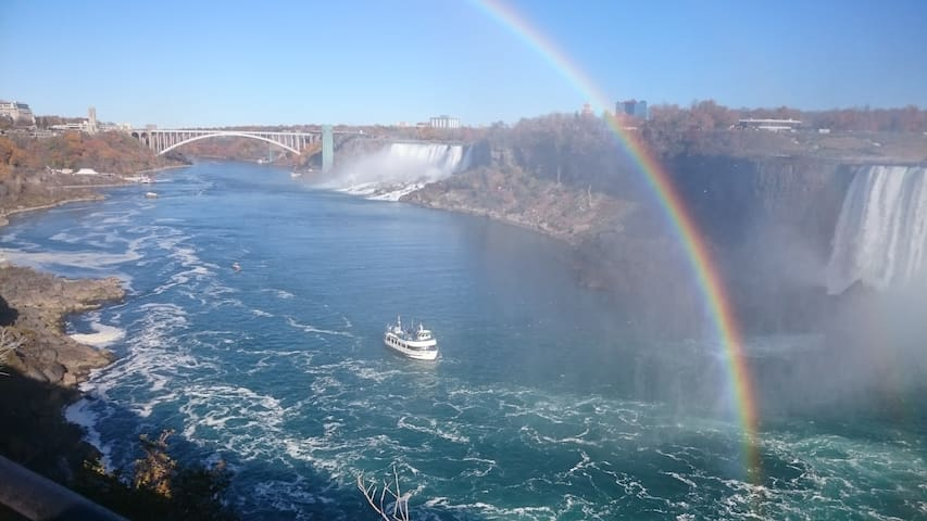 Niagara falls -  We have the best of both worlds.  A short distance to the Amazing Niagara falls via a picturesque drive along the parkway following the a scenic Niagara River.  Remember to ask us about best places to park and activities to enjoy