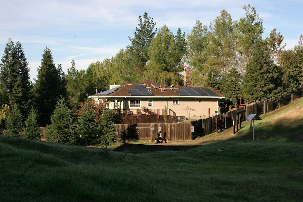 Back yard access to miles of hiking and biking trails