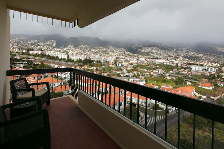 Holiday loft apartment, full view of Funchal