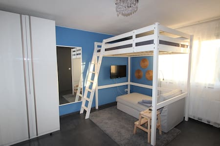 Cozy loft bed Apartment with wifi - カールスルーエ