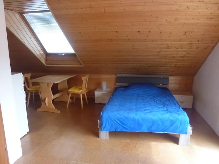 35 qm großes möbl. Zimmer mit eigener Naßzelle