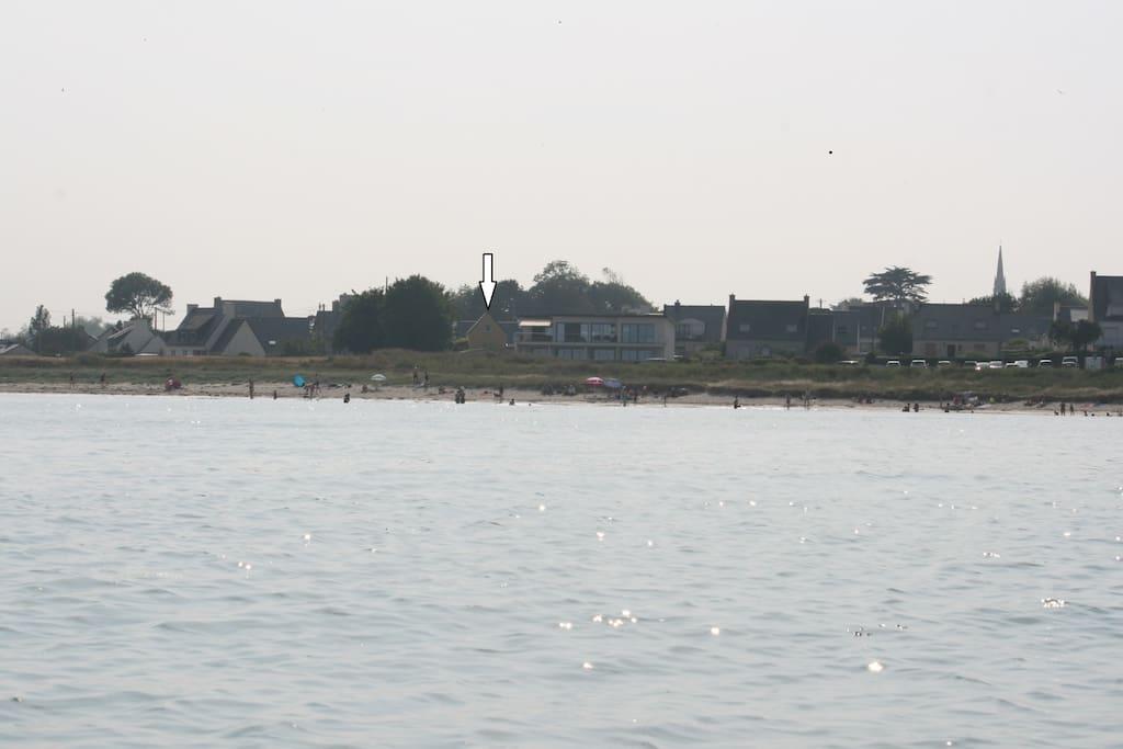 Situation de la maison dans la baie
