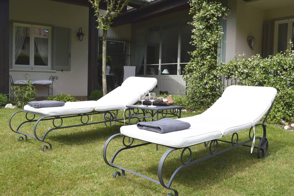 Sun loungers at guest's disposal