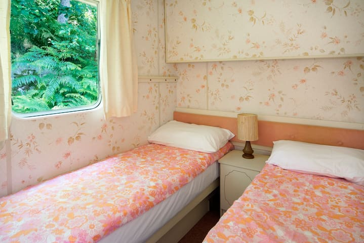 the twin room - the two beds can be joined to make a second double