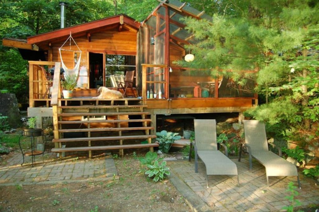 Cottage and deck