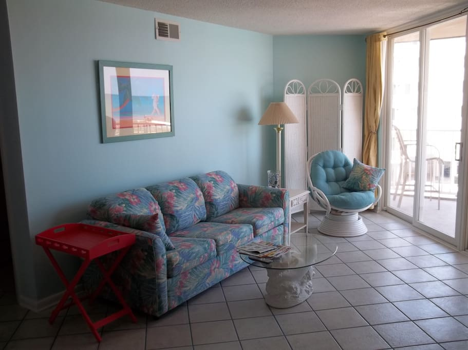 Attractive, comfortable, relaxing...our unit has 3 TVs, 3 DVD or VHS players, and board games.